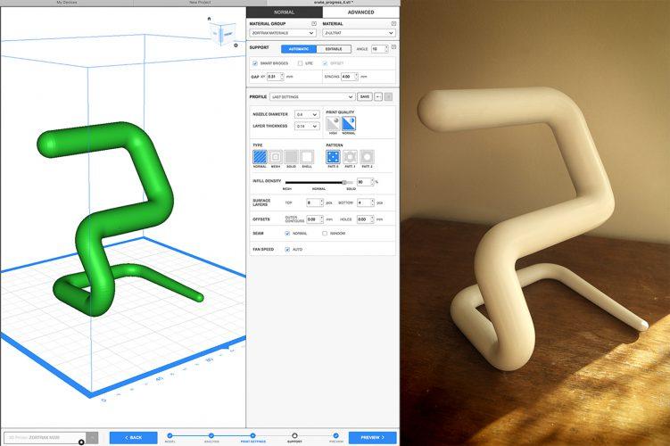 snake 3D print